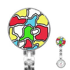Colorful abtraction Stainless Steel Nurses Watch