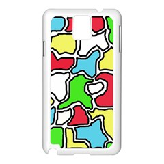 Colorful abtraction Samsung Galaxy Note 3 N9005 Case (White)
