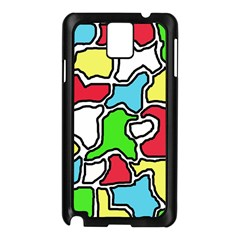 Colorful abtraction Samsung Galaxy Note 3 N9005 Case (Black)
