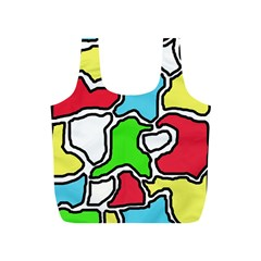 Colorful abtraction Full Print Recycle Bags (S)