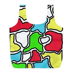 Colorful abtraction Full Print Recycle Bags (L)