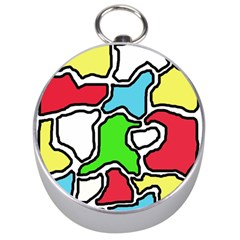 Colorful abtraction Silver Compasses