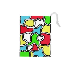 Colorful abtraction Drawstring Pouches (Small)