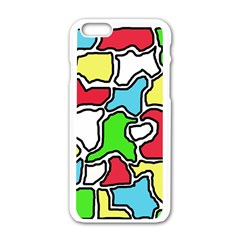 Colorful abtraction Apple iPhone 6/6S White Enamel Case
