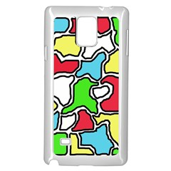 Colorful abtraction Samsung Galaxy Note 4 Case (White)