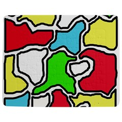 Colorful abtraction Jigsaw Puzzle Photo Stand (Rectangular)