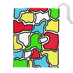 Colorful abtraction Drawstring Pouches (XXL)