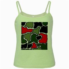 Black, gray and red abstraction Green Spaghetti Tank
