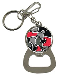 Black, gray and red abstraction Bottle Opener Key Chains