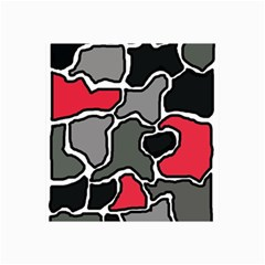 Black, gray and red abstraction Collage Prints