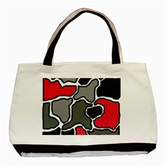 Black, gray and red abstraction Basic Tote Bag (Two Sides)