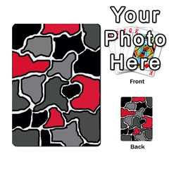 Black, gray and red abstraction Multi-purpose Cards (Rectangle)