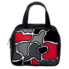 Black, gray and red abstraction Classic Handbags (One Side)