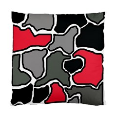 Black, gray and red abstraction Standard Cushion Case (Two Sides)