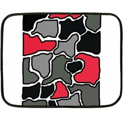 Black, gray and red abstraction Double Sided Fleece Blanket (Mini)