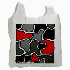 Black, gray and red abstraction Recycle Bag (One Side)