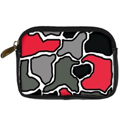 Black, gray and red abstraction Digital Camera Cases