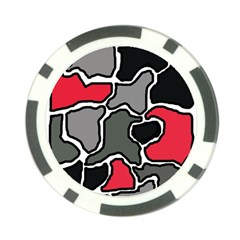 Black, gray and red abstraction Poker Chip Card Guards (10 pack)