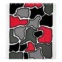 Black, gray and red abstraction Shower Curtain 66  x 72  (Large)