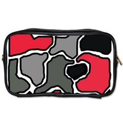 Black, gray and red abstraction Toiletries Bags