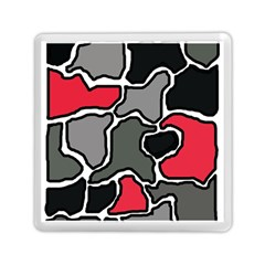 Black, gray and red abstraction Memory Card Reader (Square)