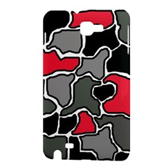 Black, gray and red abstraction Samsung Galaxy Note 1 Hardshell Case