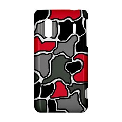 Black, gray and red abstraction HTC Evo Design 4G/ Hero S Hardshell Case