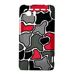 Black, gray and red abstraction HTC Vivid / Raider 4G Hardshell Case