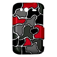 Black, gray and red abstraction HTC Wildfire S A510e Hardshell Case