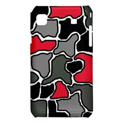 Black, gray and red abstraction Samsung Galaxy S i9008 Hardshell Case