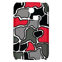 Black, gray and red abstraction Samsung S3350 Hardshell Case