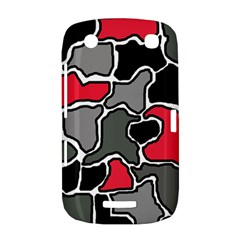 Black, gray and red abstraction BlackBerry Curve 9380