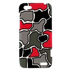 Black, gray and red abstraction HTC One V Hardshell Case