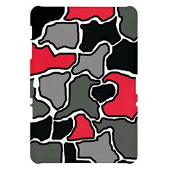 Black, gray and red abstraction Samsung Galaxy Tab 10.1  P7500 Hardshell Case