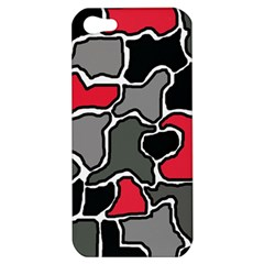 Black, gray and red abstraction Apple iPhone 5 Hardshell Case