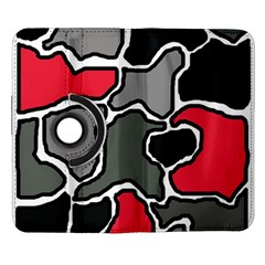 Black, gray and red abstraction Samsung Galaxy Note II Flip 360 Case