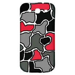 Black, gray and red abstraction Samsung Galaxy S3 S III Classic Hardshell Back Case