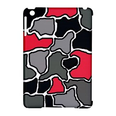 Black, gray and red abstraction Apple iPad Mini Hardshell Case (Compatible with Smart Cover)