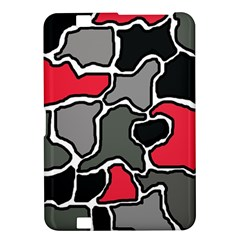 Black, gray and red abstraction Kindle Fire HD 8.9