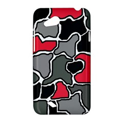 Black, gray and red abstraction HTC Desire VC (T328D) Hardshell Case