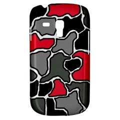 Black, gray and red abstraction Samsung Galaxy S3 MINI I8190 Hardshell Case