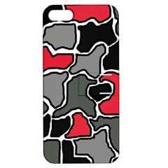 Black, gray and red abstraction Apple iPhone 5 Hardshell Case with Stand
