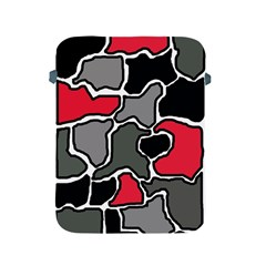 Black, gray and red abstraction Apple iPad 2/3/4 Protective Soft Cases