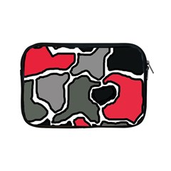Black, gray and red abstraction Apple iPad Mini Zipper Cases