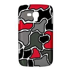 Black, gray and red abstraction Samsung Galaxy Duos I8262 Hardshell Case