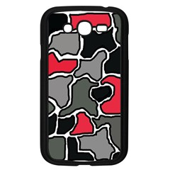 Black, gray and red abstraction Samsung Galaxy Grand DUOS I9082 Case (Black)