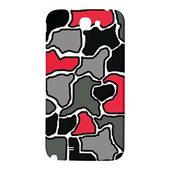 Black, gray and red abstraction Samsung Note 2 N7100 Hardshell Back Case