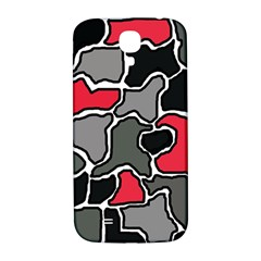 Black, gray and red abstraction Samsung Galaxy S4 I9500/I9505  Hardshell Back Case