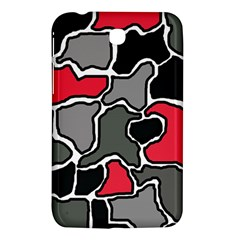 Black, gray and red abstraction Samsung Galaxy Tab 3 (7 ) P3200 Hardshell Case