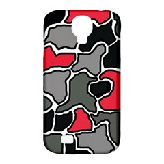 Black, gray and red abstraction Samsung Galaxy S4 Classic Hardshell Case (PC+Silicone)